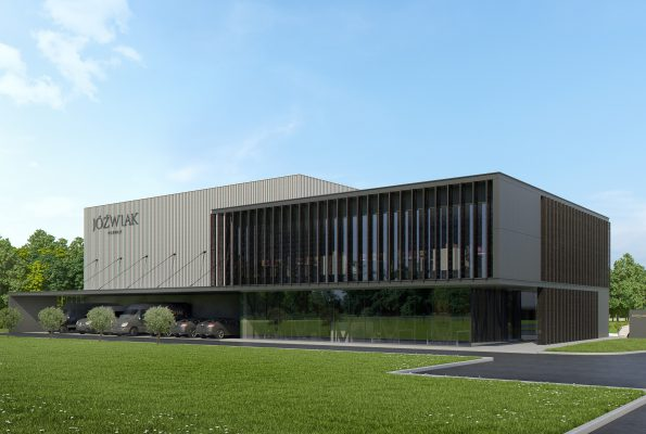 It's the first time that we're presenting a visualization of the new headquarters of JÓŹWIAK!
