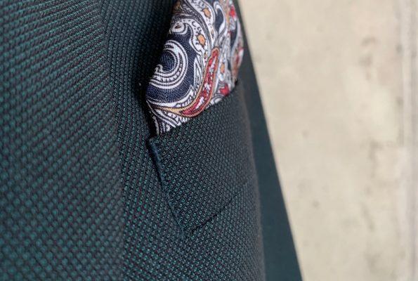 Garnitur uszyty z tkaniny JÓŹWIAK POZNAŃ